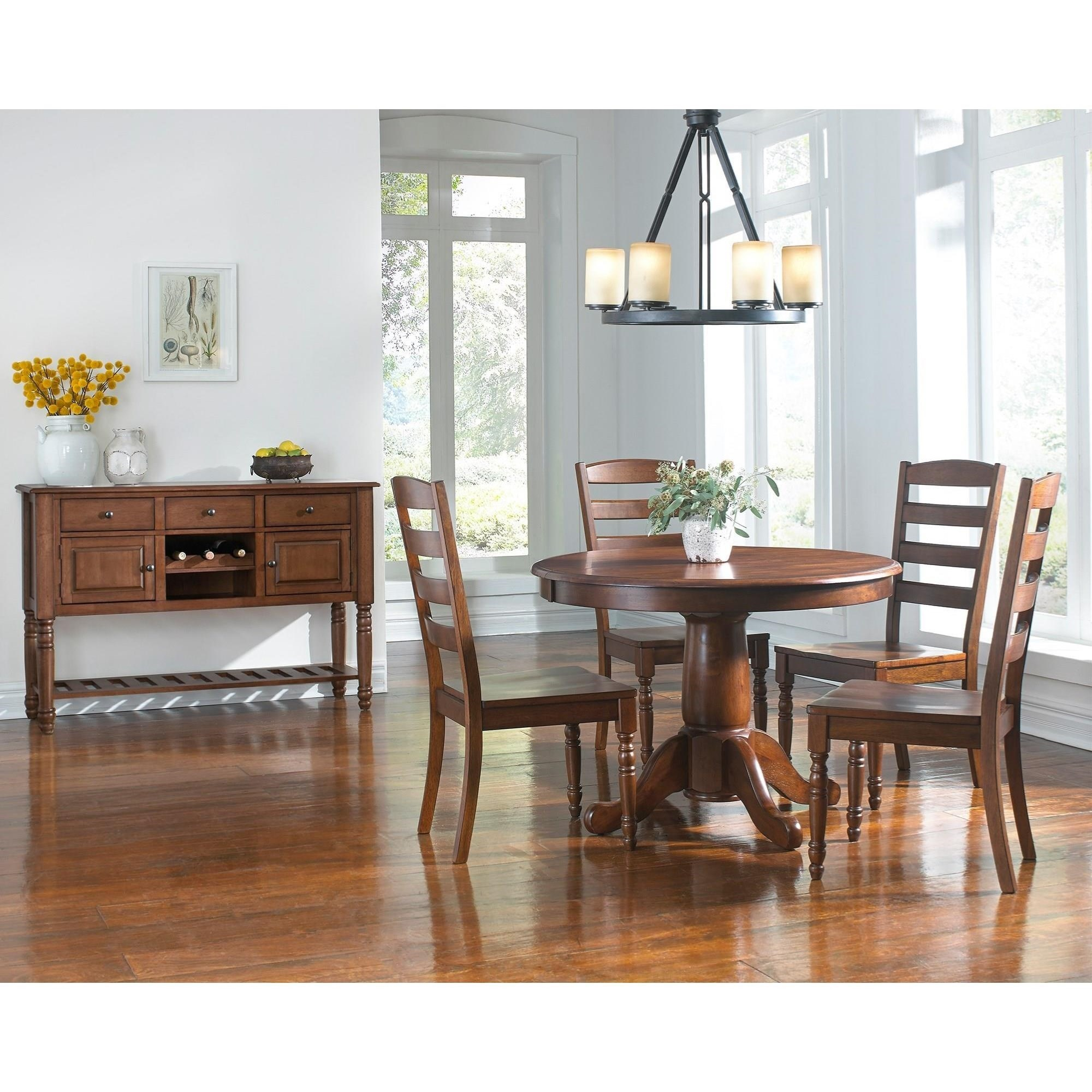 Aamerica roanoke casual dining room group wayside for Casual dining room