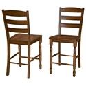 AAmerica Roanoke Ladderback Counter Height Dining Stool