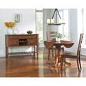 AAmerica Roanoke 3 Piece Drop Leaf Pedestal Table & Ladder Back Chair Se