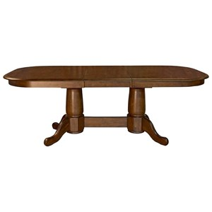 AAmerica Roanoke Butterfly Extension Trestle Table