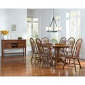AAmerica Roanoke Trestle Dining Table with Self-Storing Butterfly Extension Leaf