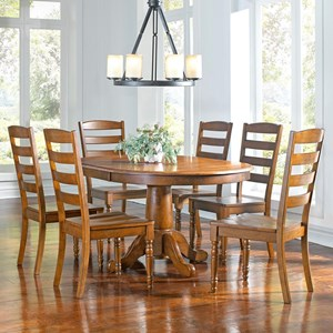 AAmerica Roanoke 7 Piece Dining Set