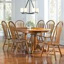 AAmerica Roanoke 7 Piece Dining Set - Item Number: ROA-RH-6-30-0+6xROA-RH-2-01-C