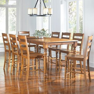 AAmerica Roanoke 9 Piece Counter Height Dining Set