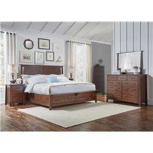 AAmerica Mika 4PC Queen Storage Bedroom Set