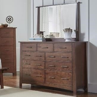 AAmerica Sodo Dresser and Mirror Set - Item Number: SOD-WB-5-50-0+55-0