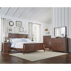 AAmerica Sodo King Panel Bedroom Group