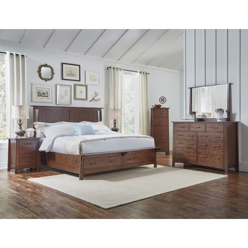 Sodo Queen Panel Storage Bedroom Group by AAmerica at Wilson's Furniture