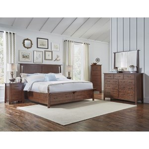 AAmerica Sodo King Panel Storage Bedroom Group