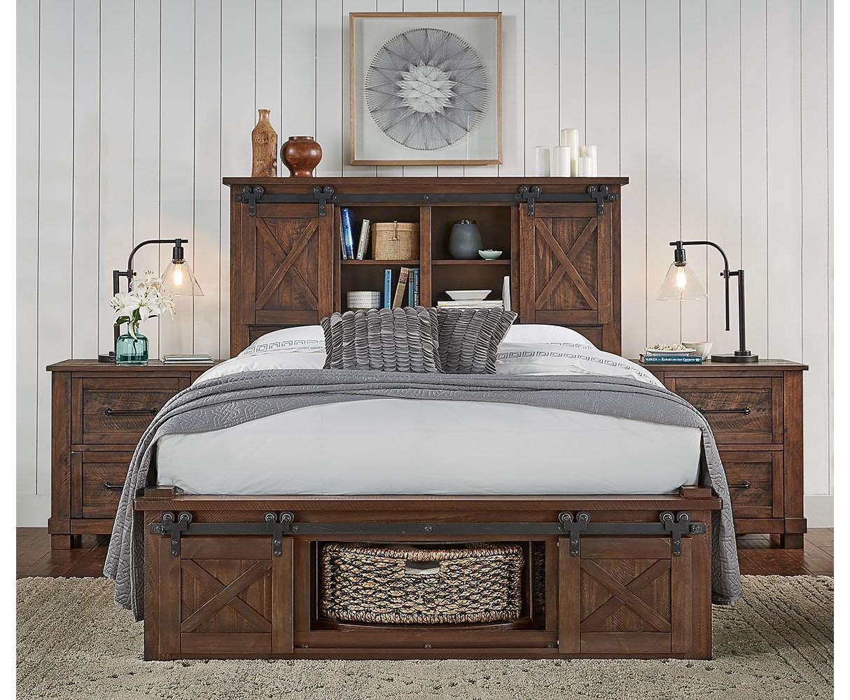 Aamerica Sun Valley Queen Storage Platform Bed Furniture Superstore Rochester Mn Platform Beds Low Profile Beds