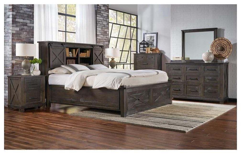 6 Piece Queen Charcoal Bedroom Group