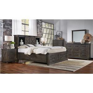 4PC King Storage Bedroom Set