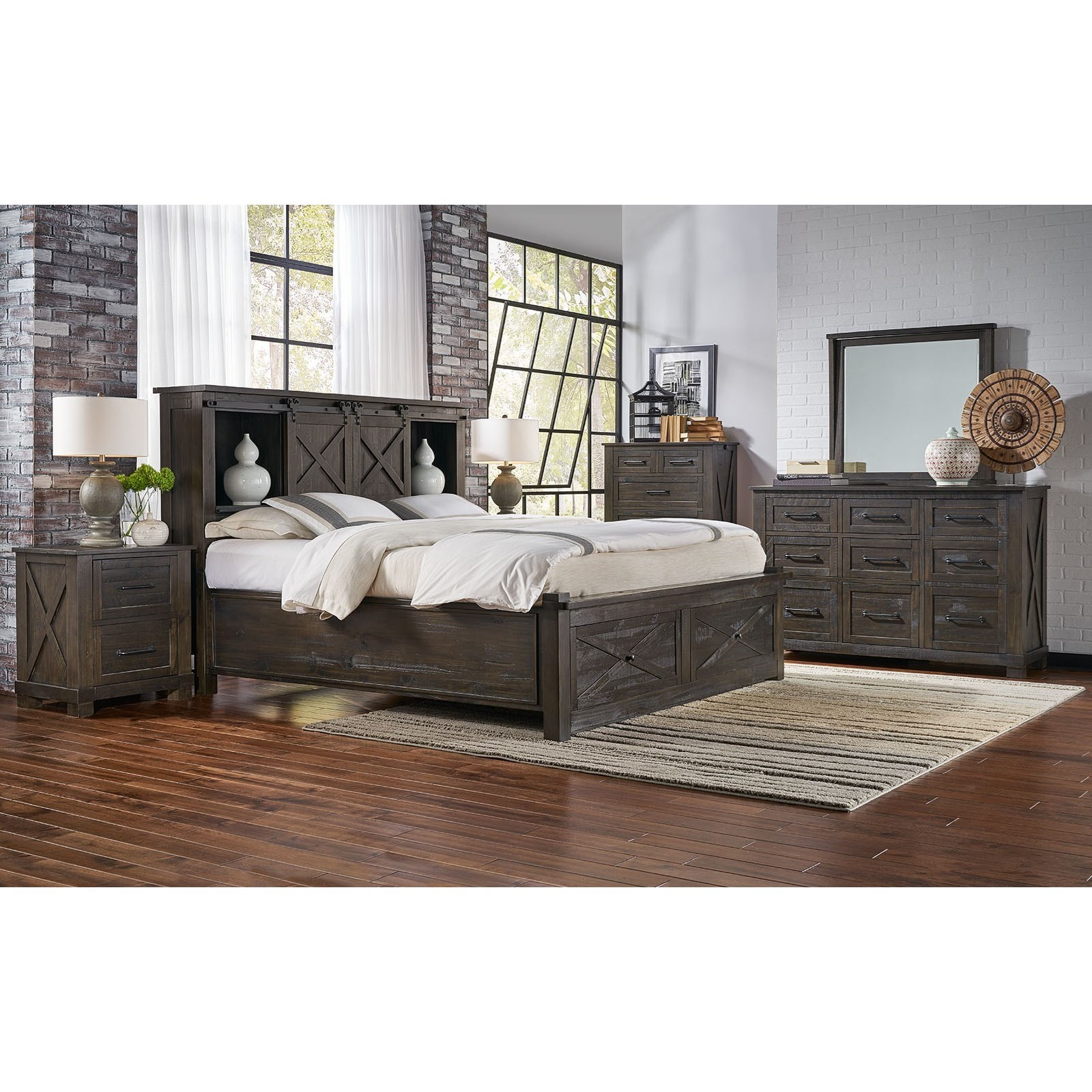 Aamerica Sun Valley Queen Size Storage Bed With Footboard