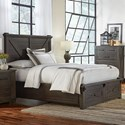 AAmerica Sun Valley Queen Bed with Footboard Bench - Item Number: SUV-CL-5-09-1