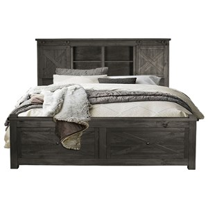 AAmerica Sun Valley King Size Storage Bed with Footboard Bench