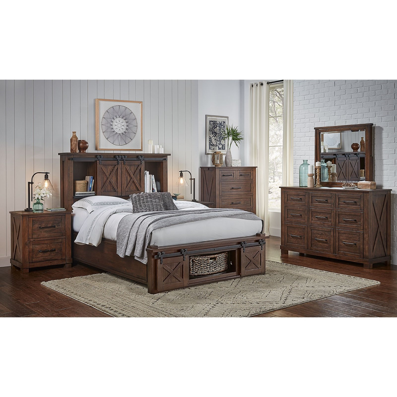 Sun Valley Queen Bedroom Group by AAmerica at Wilson's Furniture