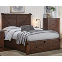AAmerica Sun Valley Queen Bed with Footboard Bench - Item Number: SUV-RT-5-09-1