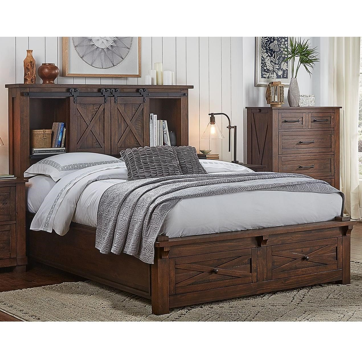 A A Sun Valley California King Bed With Footboard Storage Walker S Furniture Panel Beds