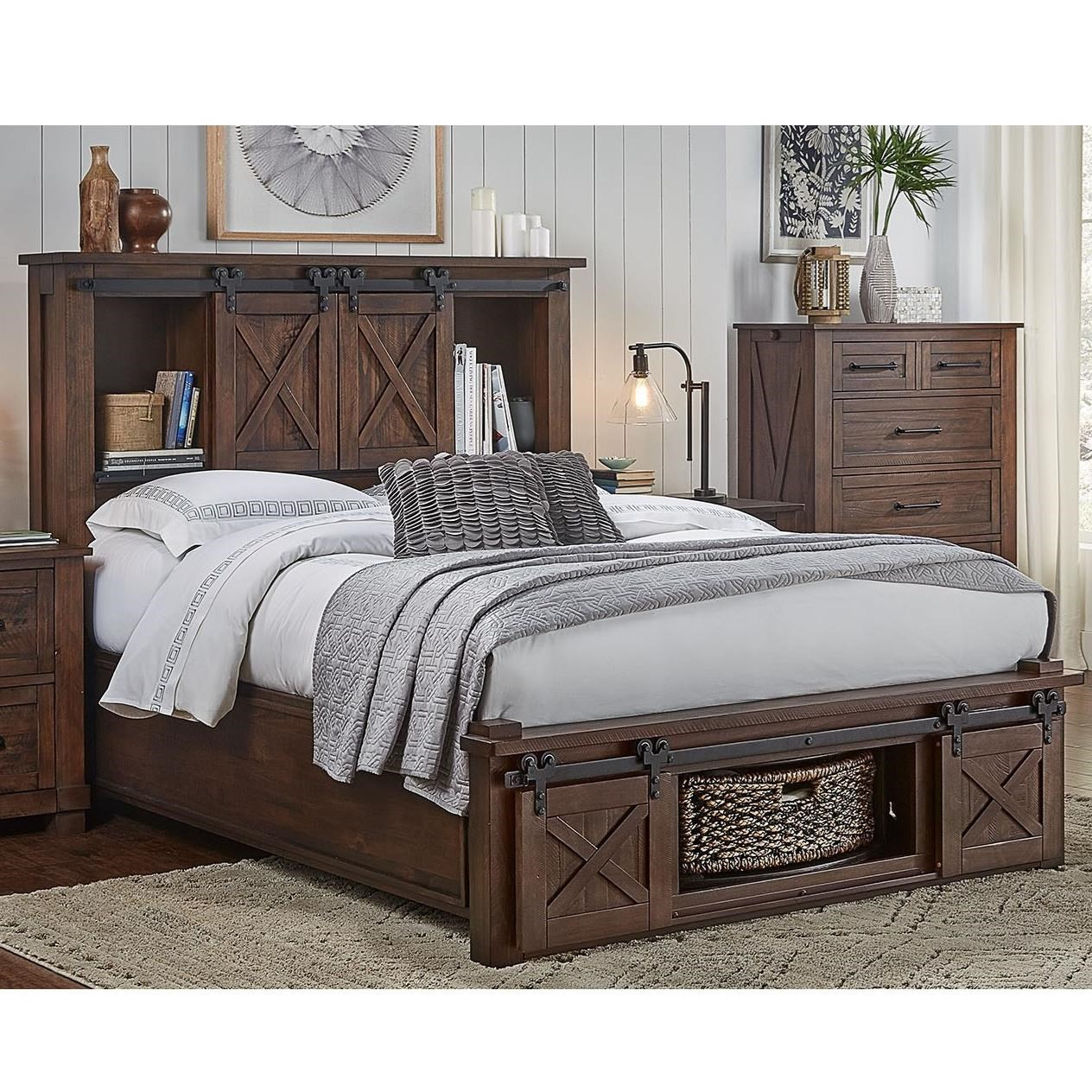 Aamerica Sun Valley California King Bed With Rotating Storage Lindy S Furniture Company Panel Beds
