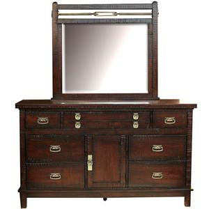 AAmerica Suncadia Dresser and Mirror Set