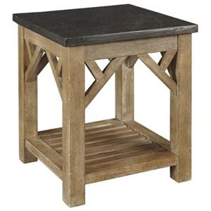 AAmerica West Valley End Table with Shelf
