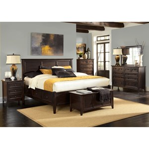 AAmerica Westlake King Storage Bedroom Group