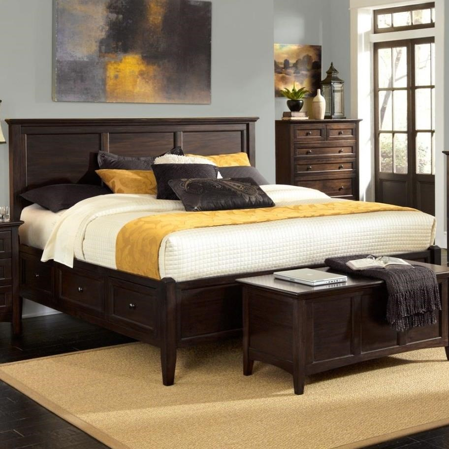 Aamerica Westlake Transitional Queen Bed With 6 Storage