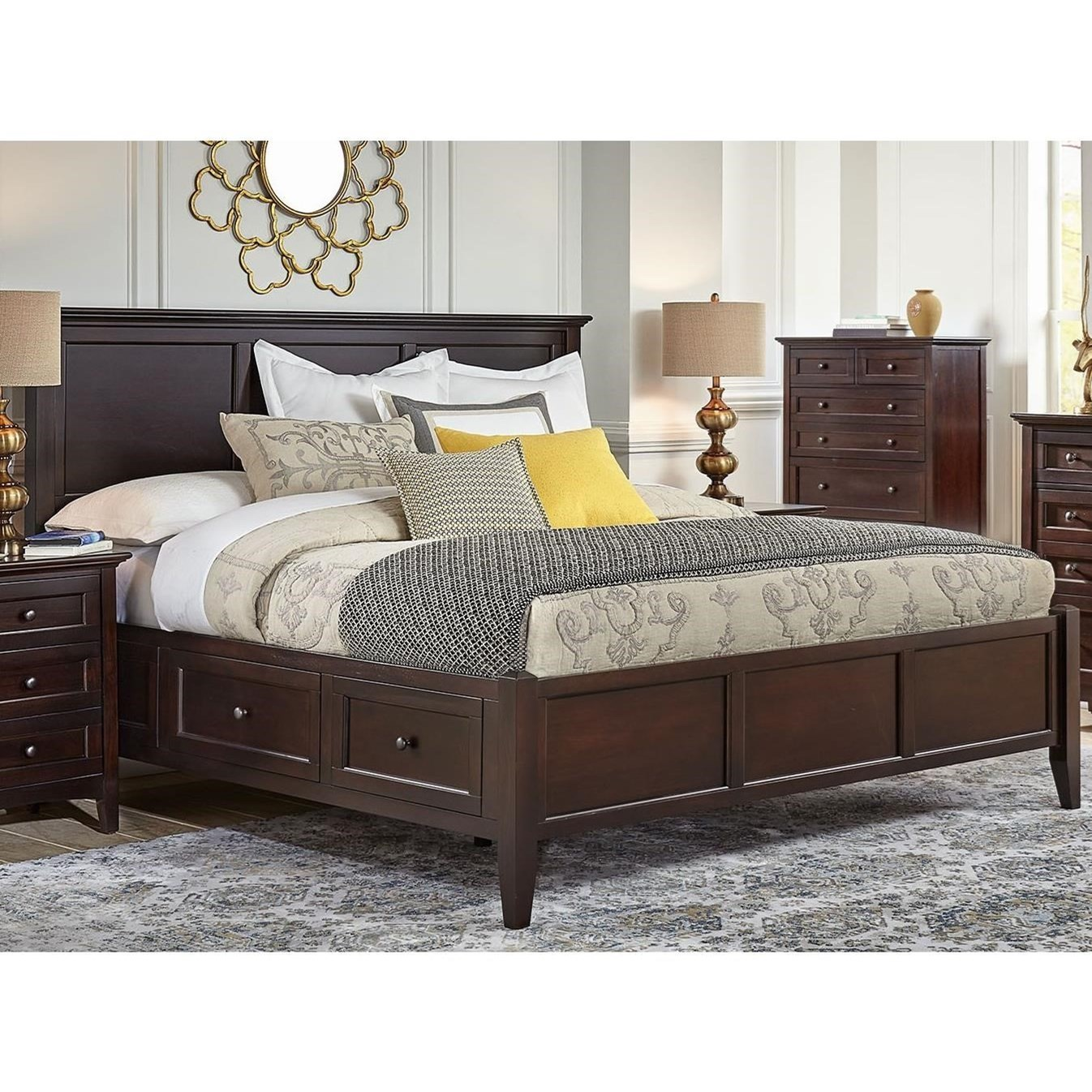 Aamerica Westlake Transitional California King Bed With 6