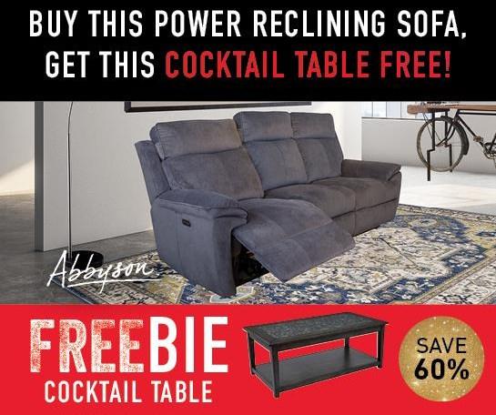 Brett Brett Reclining Sofa with FREEBIE! by Abbyson at Morris Home