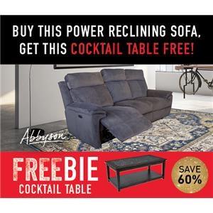 Brett Reclining Sofa with FREEBIE!