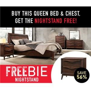 Cassie Queen Bed Package with Freebie!