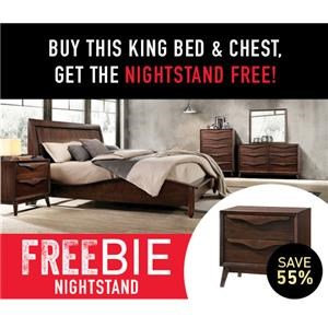 Cassie King Bed Package with Freebie!