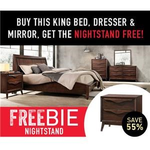 Cassie King Bed with Freebie!