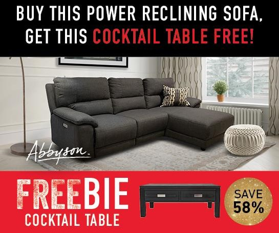 Cullen Cullen Power Sofa Chaise with FREEBIE! by Abbyson at Morris Home