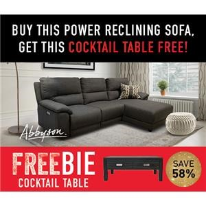 Cullen Power Sofa Chaise with FREEBIE!