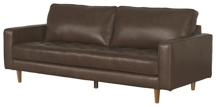 Francine Francine Top Grain Leather Sofa by Abbyson at Morris Home