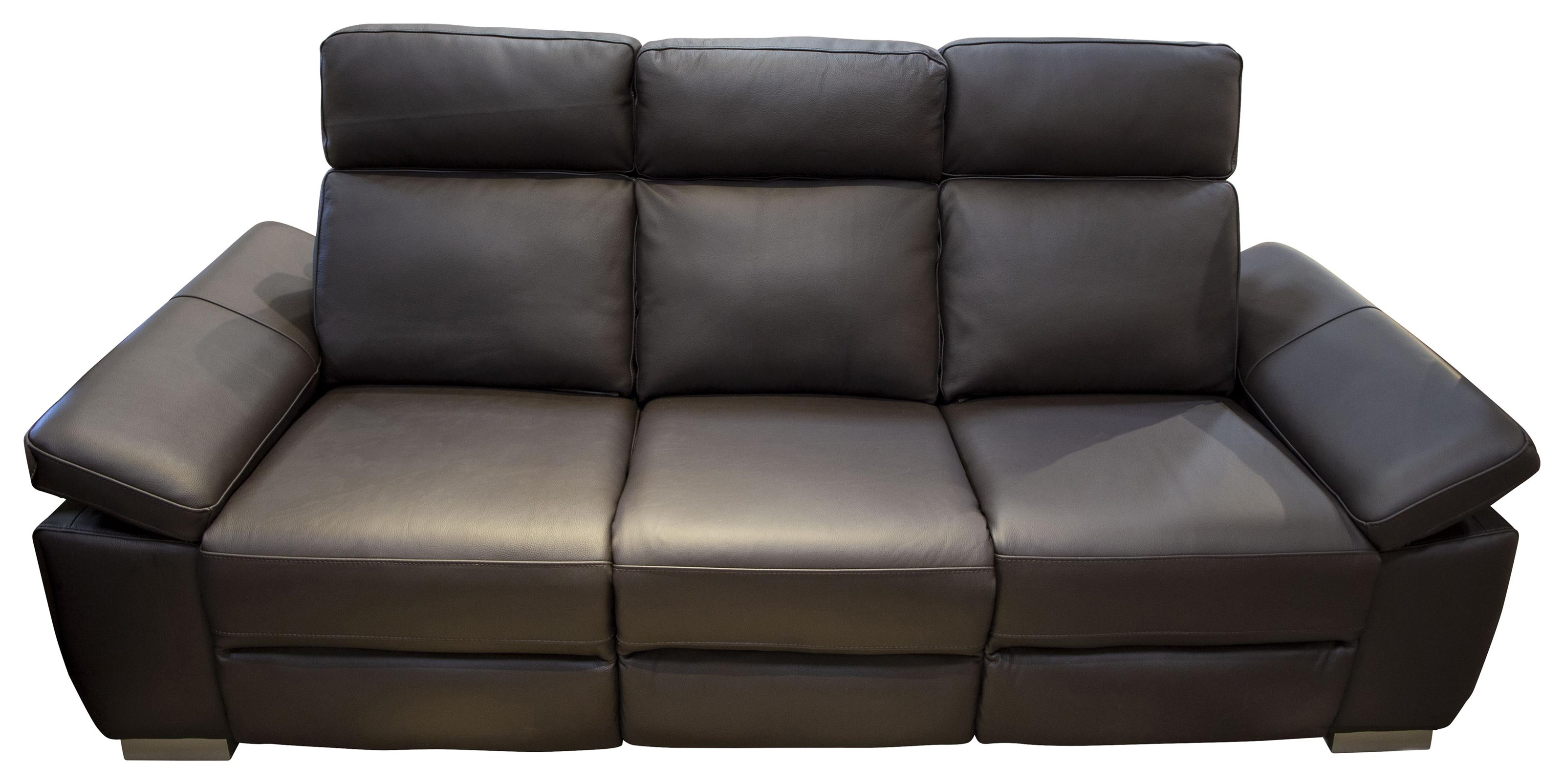 Jove Jove Power Leather Sofa by Abbyson at Morris Home