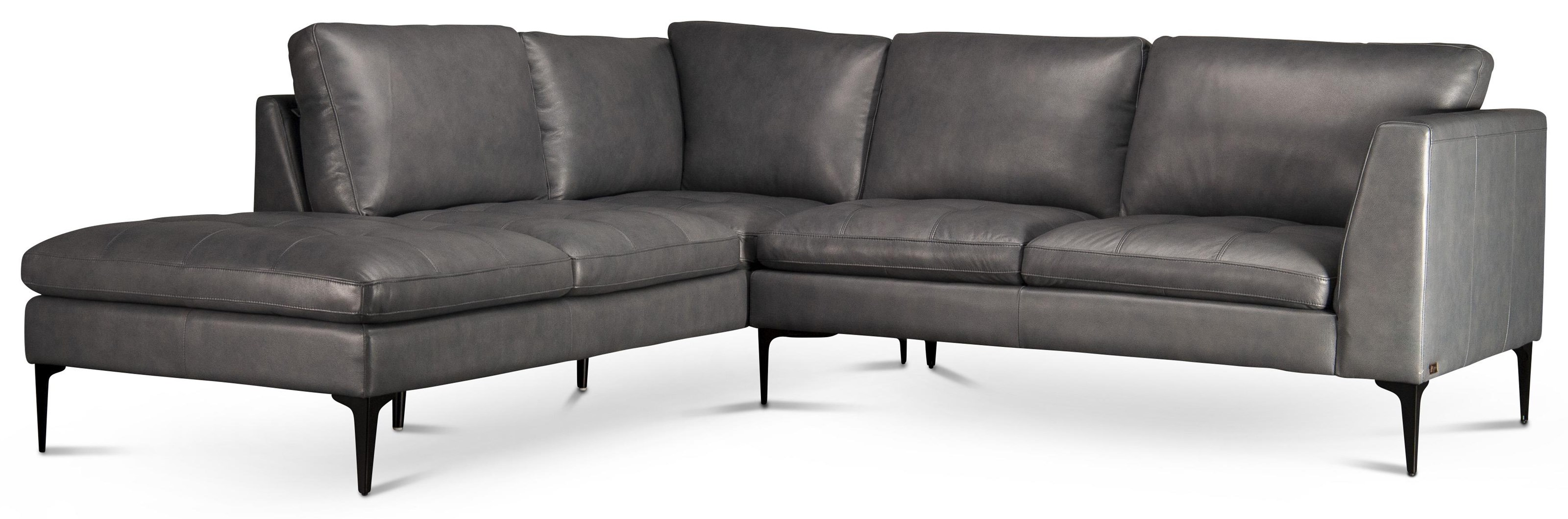 Kael Kael Top Grain Leather Sectional by Abbyson at Morris Home