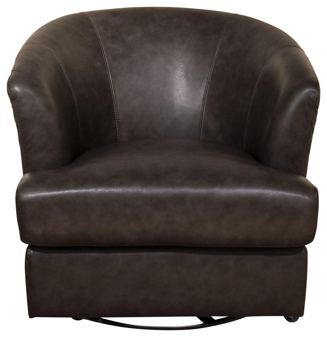 Lianna - Lianna Leather Swivel Chair by Abbyson at Morris Home