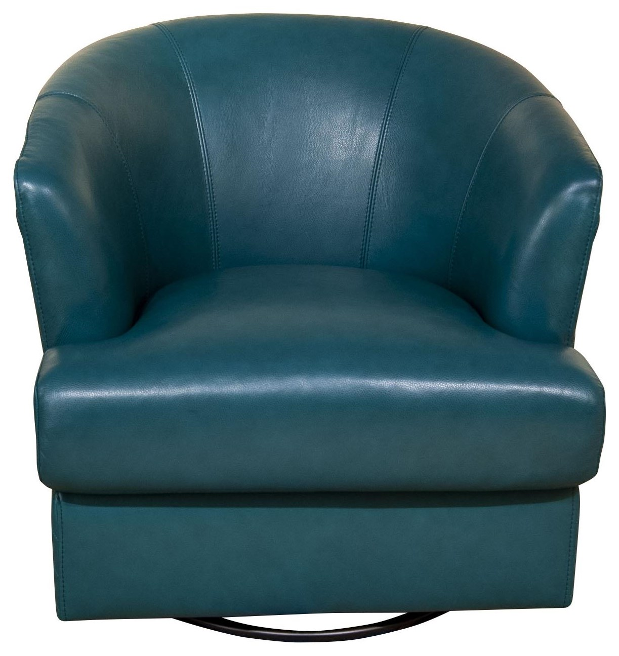 Lianna- Lianna Leather Swivel Chair by Abbyson at Morris Home