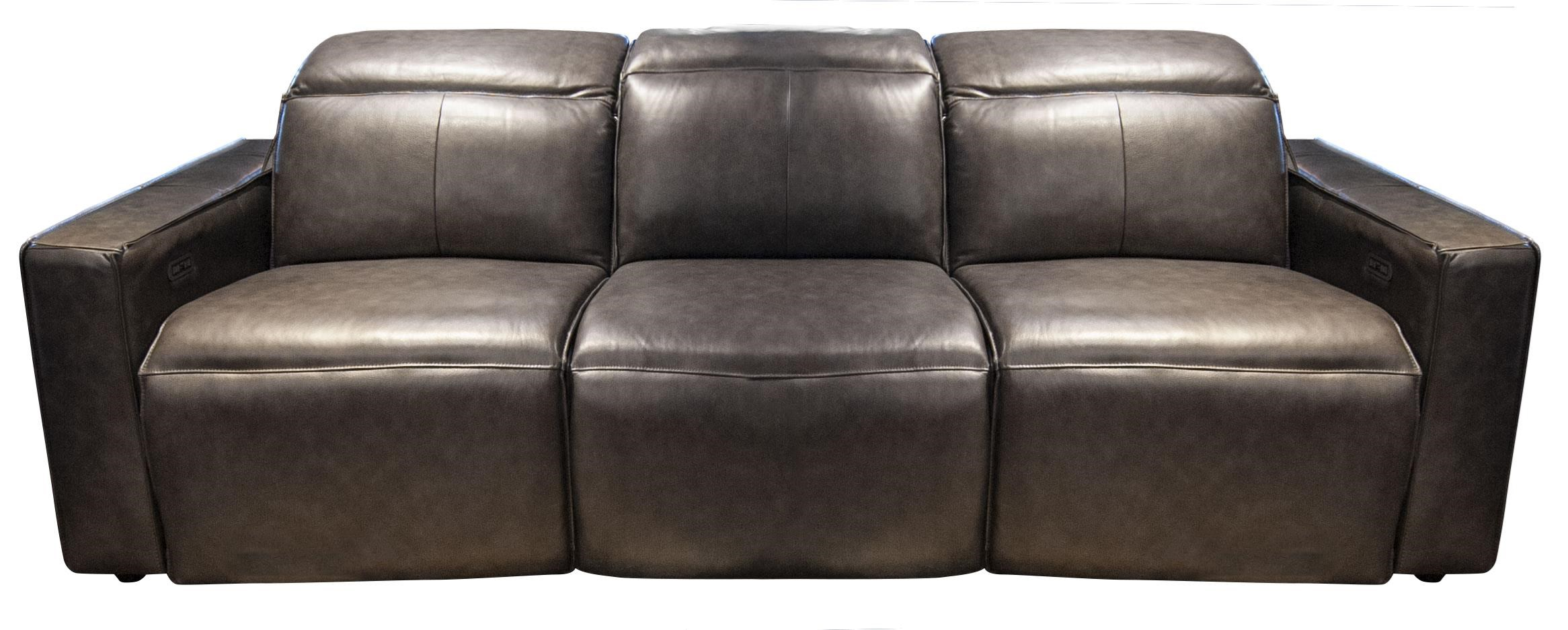 Mylie Mylie Power Leather Match Sofa by Abbyson at Morris Home
