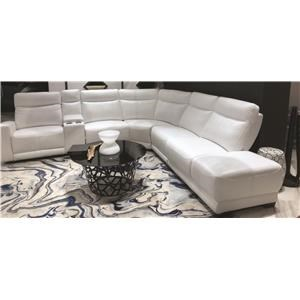 Niall Power Leather Match Sectional
