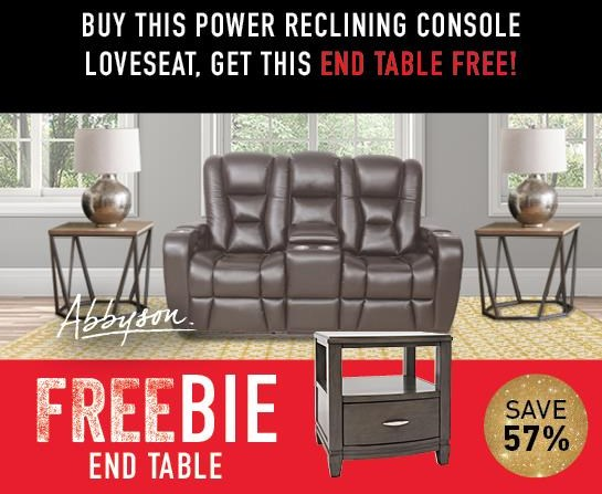 Thaddeus Thaddeus Power Loveseat with FREEBIE! by Abbyson at Morris Home