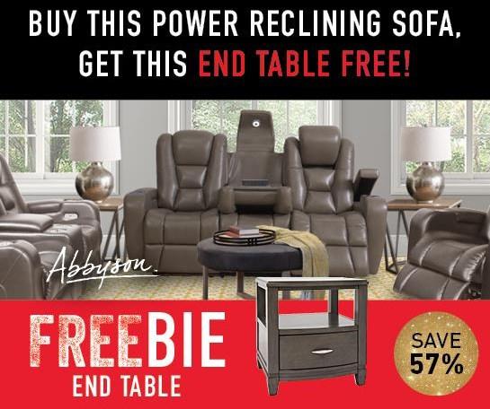 Thaddeus Thaddeus Power Sofa with FREEBIE! by Abbyson at Morris Home