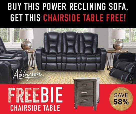 Thaddeus Thaddeus Power Sofa with FREEBIE! by Abbyson at Morris Home