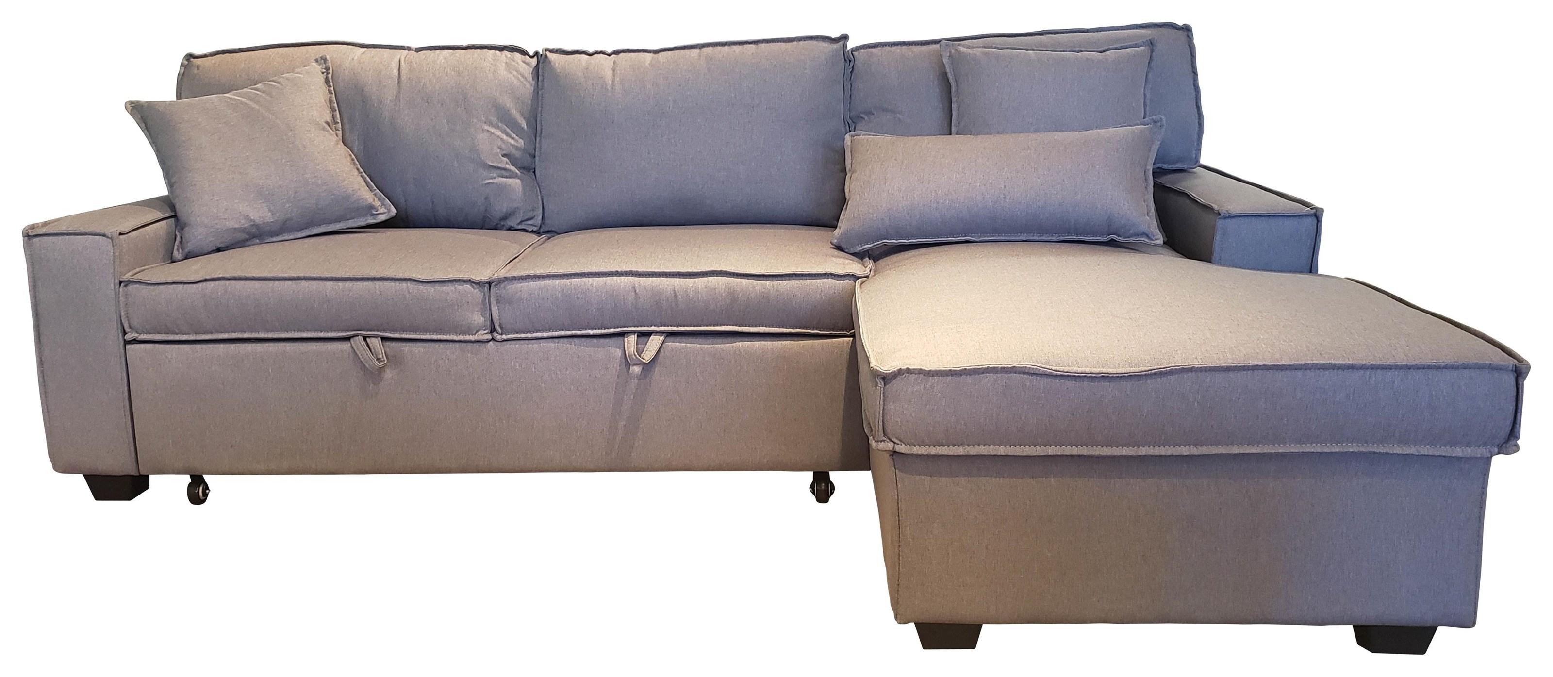Iris Sleeper Sectional - Grey at Bennett's Furniture and Mattresses