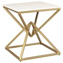 Accentrics Home Accent Tables Pyramid End Table - Item Number: DS-D281-208T+B