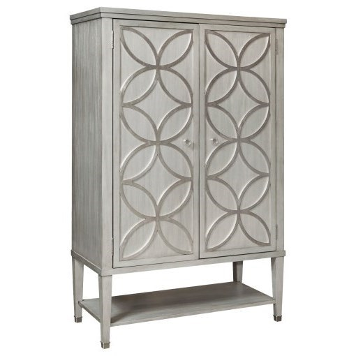 Silver Leaf Tall Door Chest