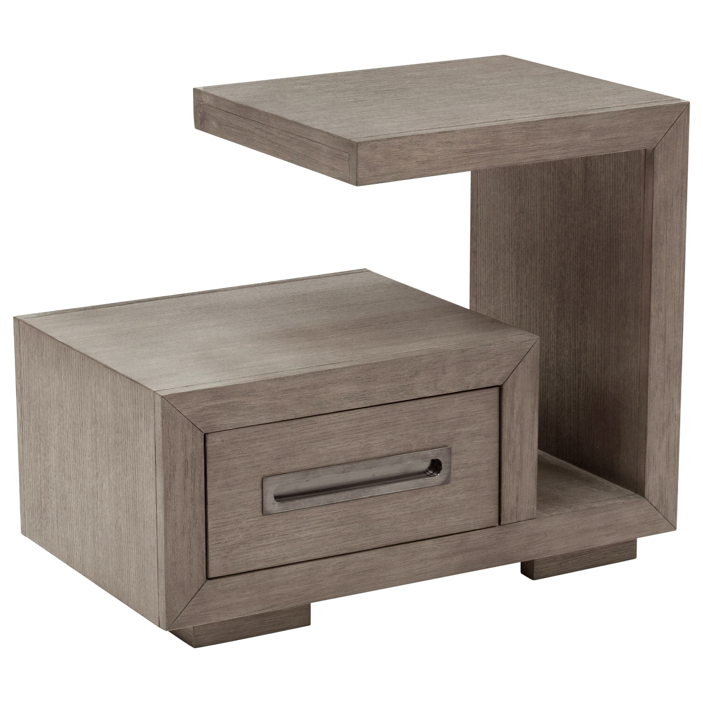 Accentrics Home Trumodern Contemporary 1 Drawer 3 Shelf Nightstand Lindy S Furniture Company Nightstands