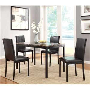 Cyber Monday Deals Santa Days Home Elegance 5 Piece Dining Set